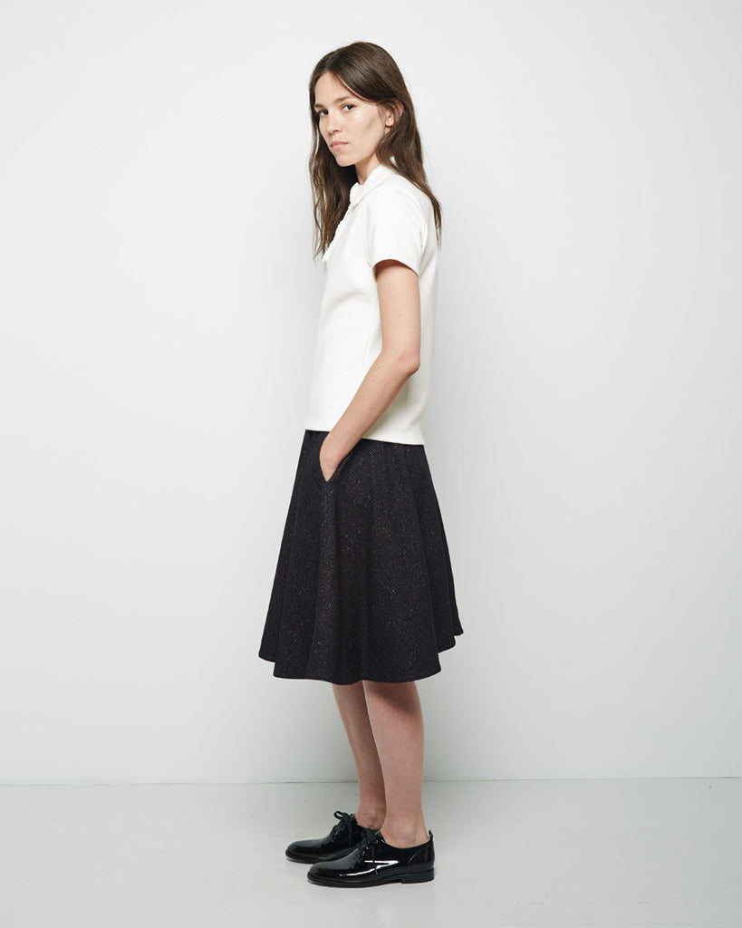 Speckled Wool A-line Skirt