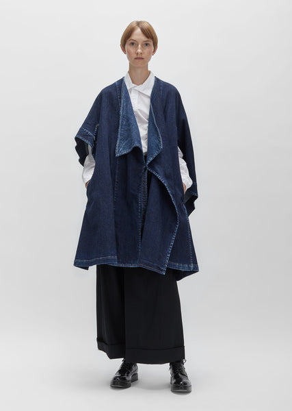 Cotton Linen Denim Cloak