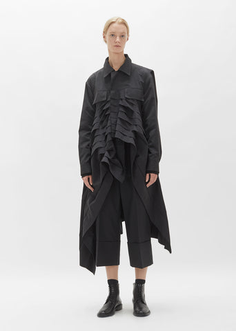 Micro Pleats Long Jacket