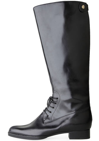 Lace-Up Back-Zip Boot