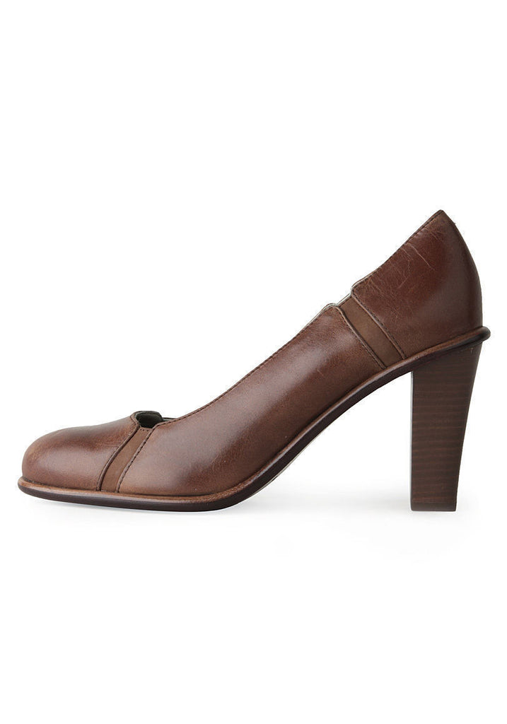 Seamed Leather Pump