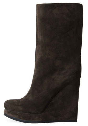 Platform Suede Wedge Boot