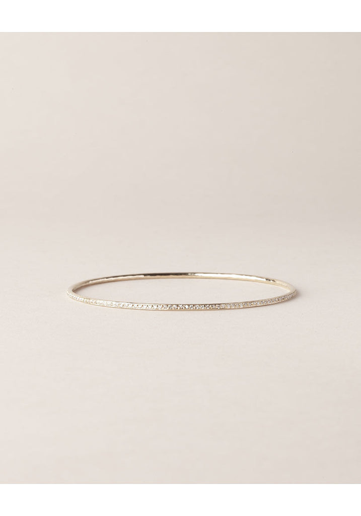 White Gold Bangle with Diamonds