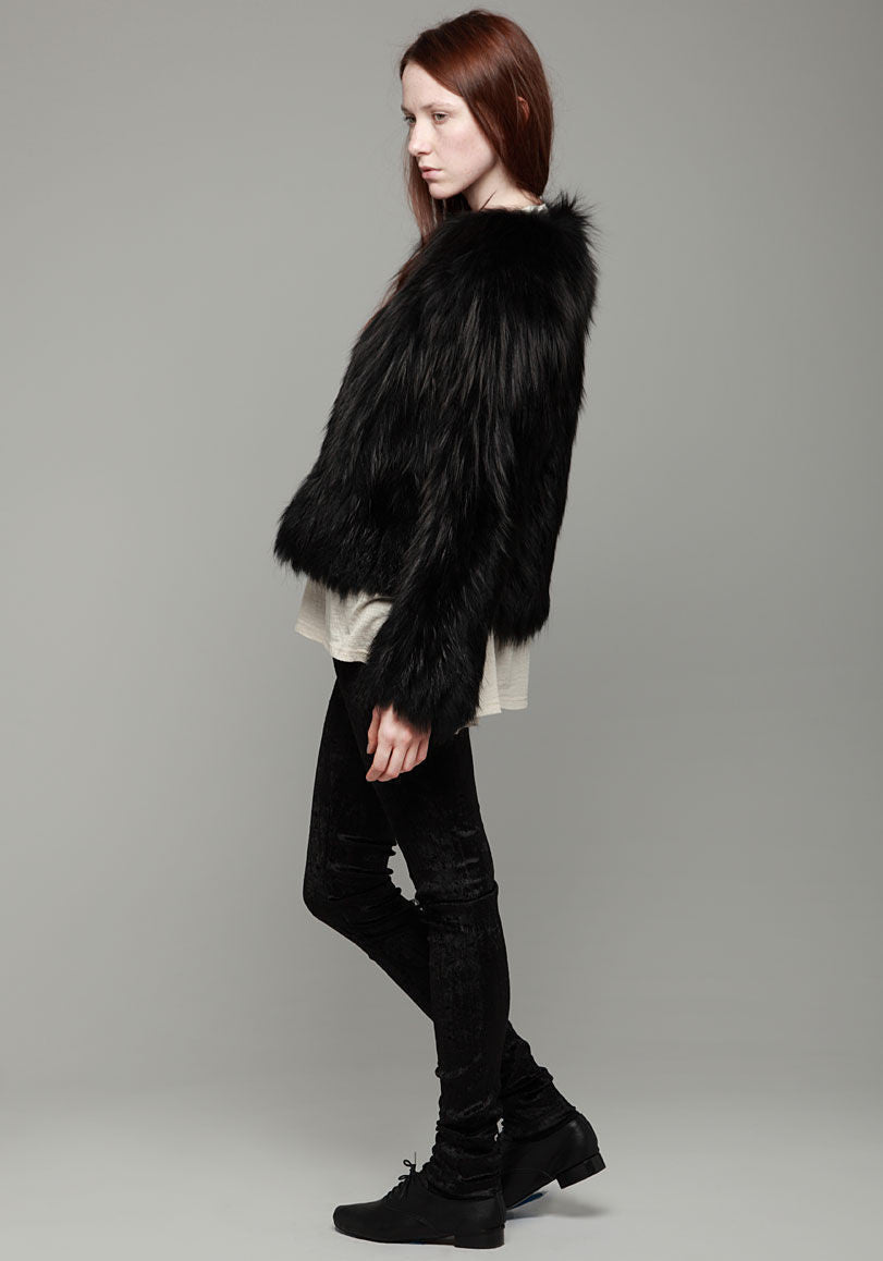 Knitted Fox Fur Callas Coat