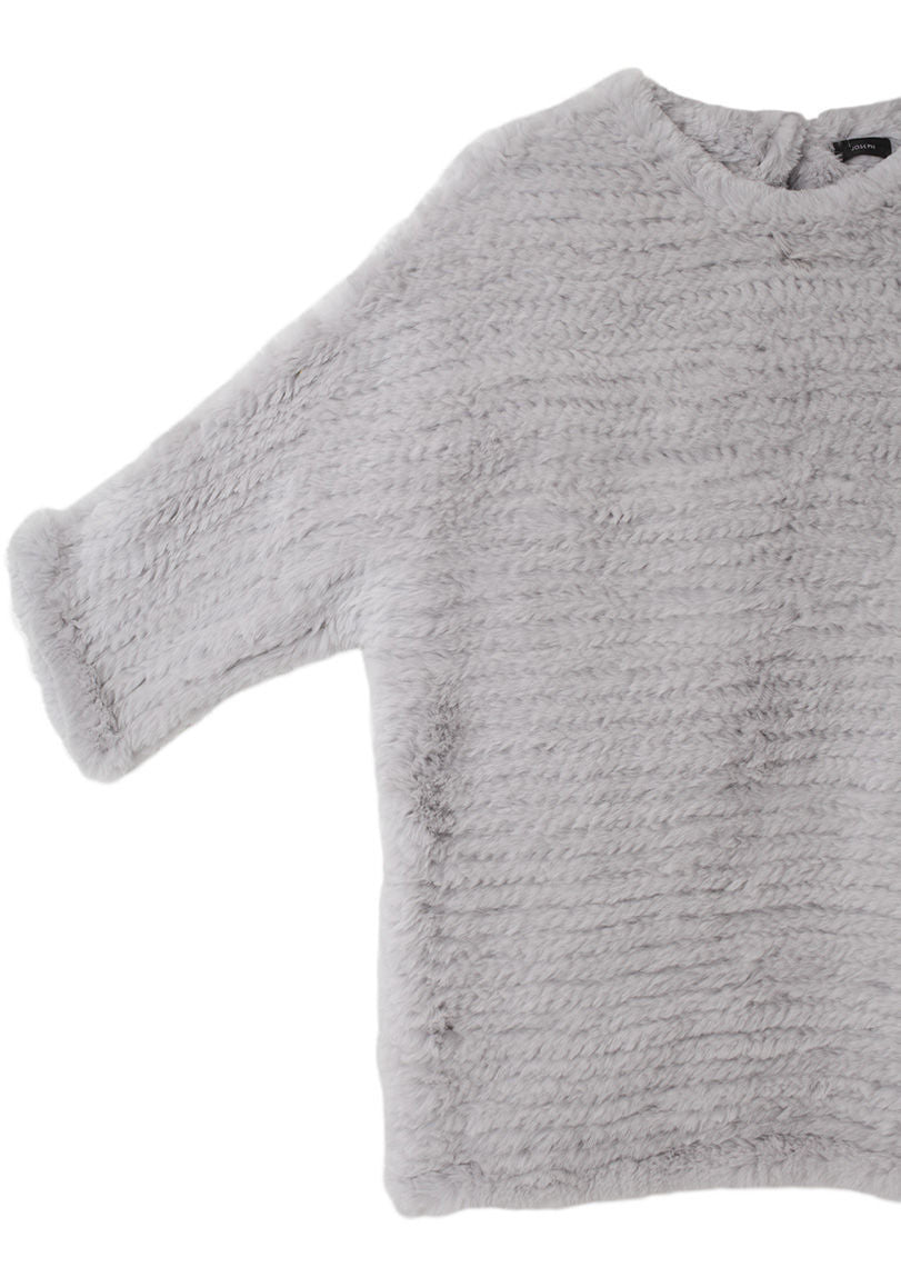 Knitted Rabbit Fur Sweater