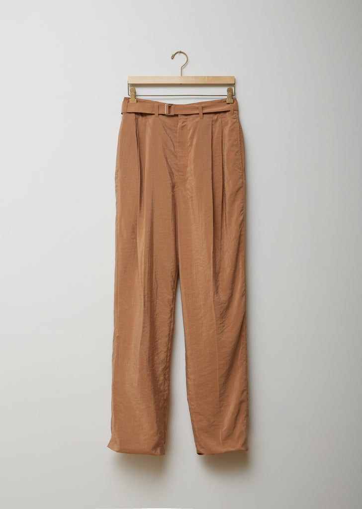 Silk Blend Pleated Trousers