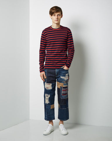 Cropped Patchwork Jean