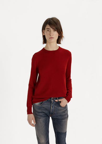 Slash Sleeve Cashmere Pullover