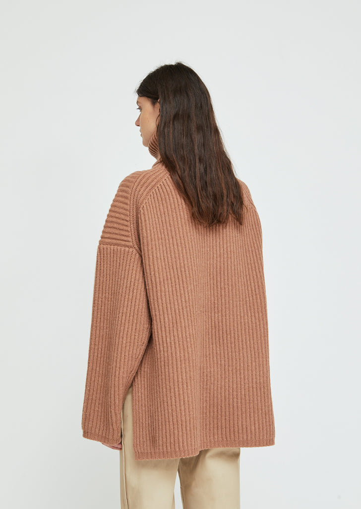 Chunky Wool Turtleneck Sweater
