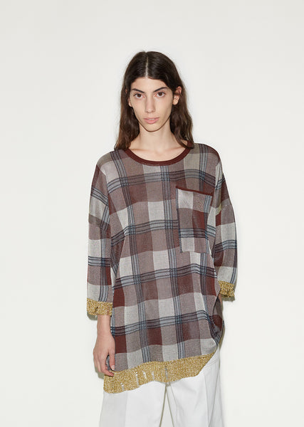 Beah Check Tunic Top
