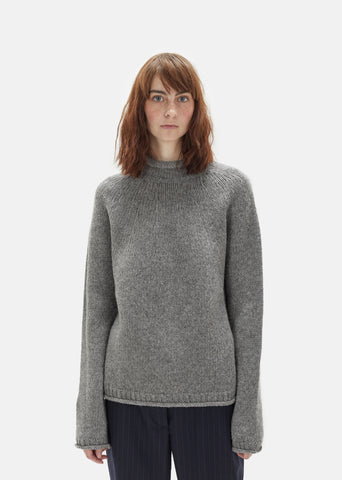 Sabela Wool Mock Neck Sweater