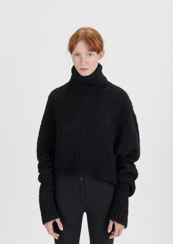 Asymmetrical Oversized Turtleneck
