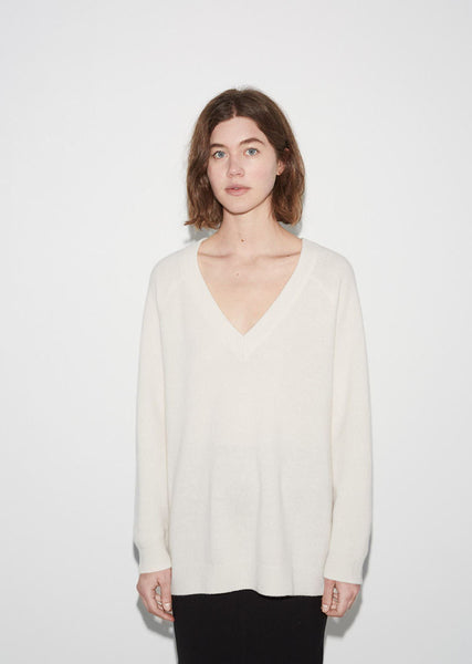 T by Alexander Wang Deep V-Neck Sweater La Garconne