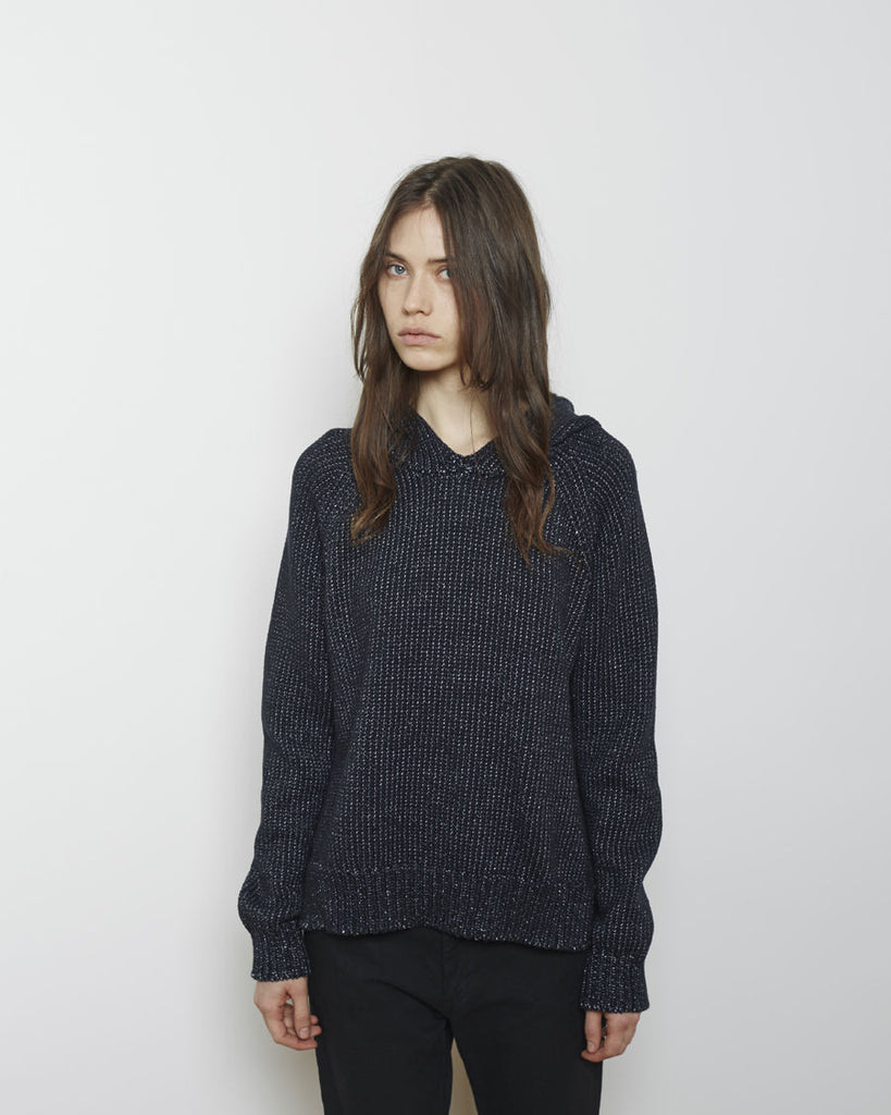 Chainette Knit Hoodie