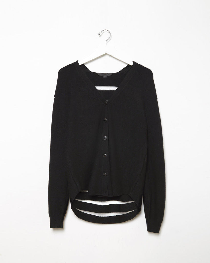 Sheer Stripe Cashmere Cardigan