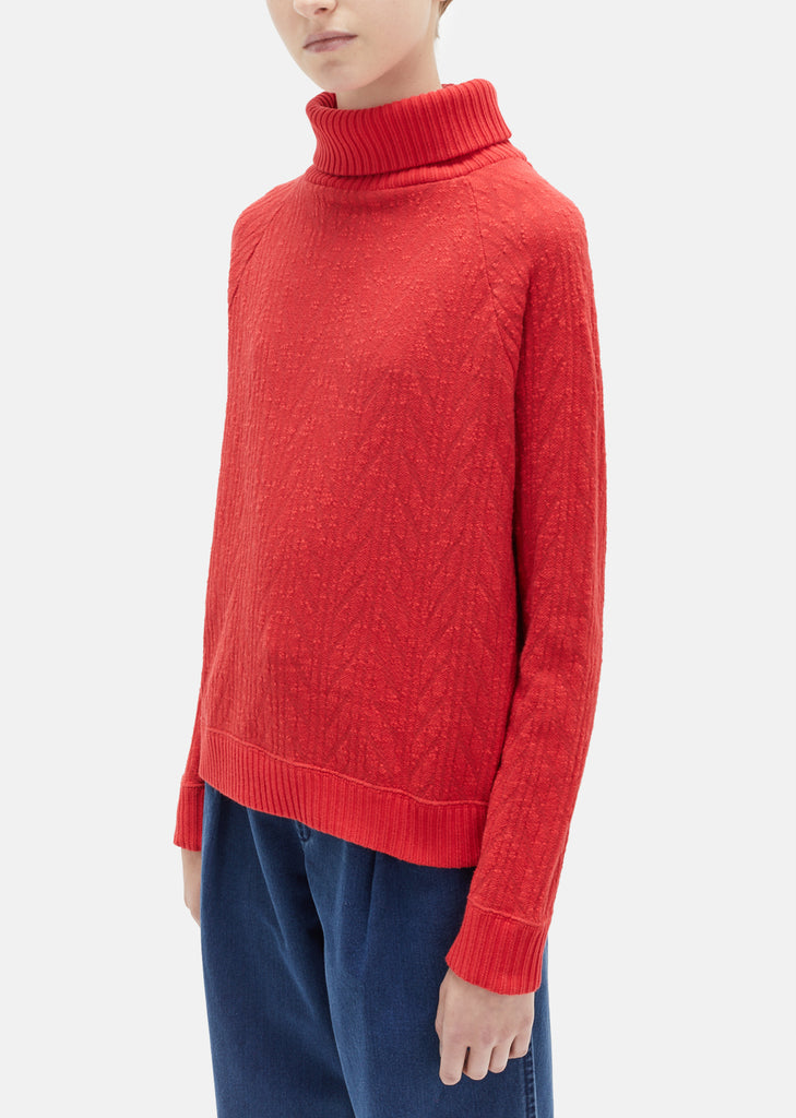Rope Jacquard Turtleneck Sweater