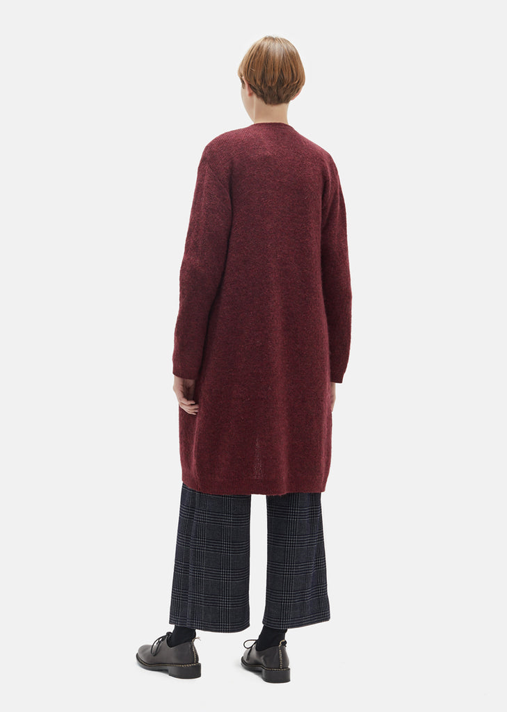 Wood Grain Mohair Long Cardigan