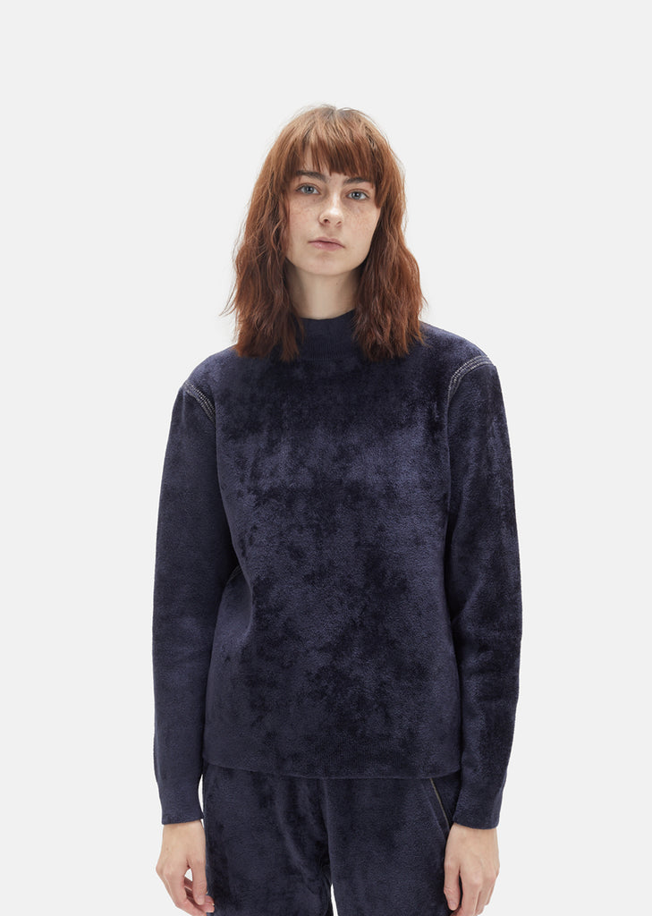 Merino Wool Blend Mockneck Sweater