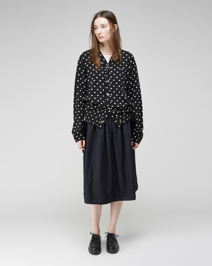 Oversized Dot Cardigan
