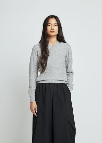 Carded Lambswool V-Neck Pullover