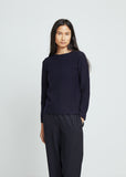 Carded Lambswool Crewneck Sweater