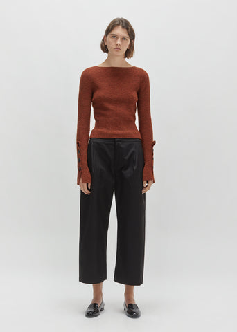 Cotton Wide-Leg Trouser