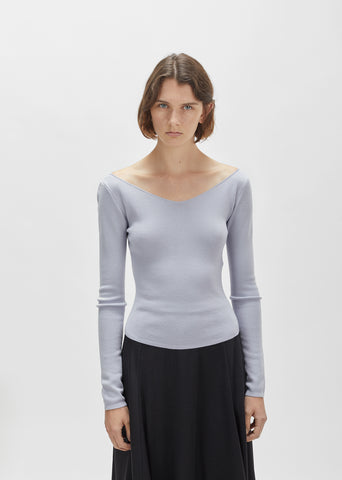 Merino & Silk V-Neck Sweater