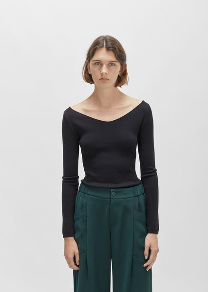 Merino Silk V-Neck Sweater