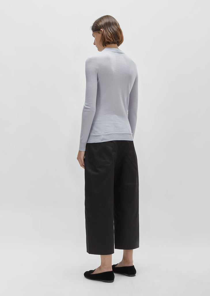 Merino & Silk High-Neck Sweater