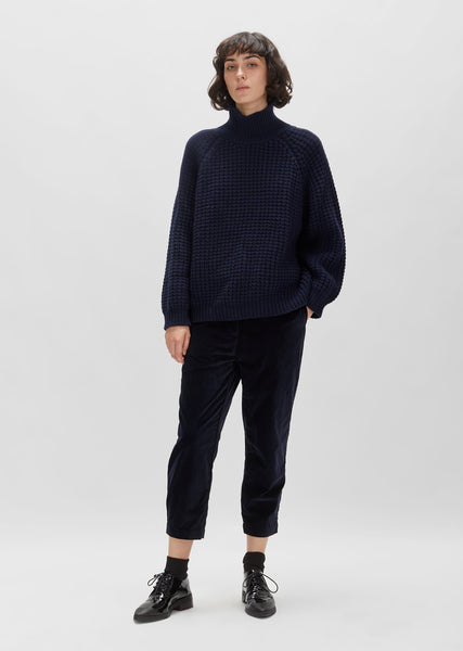 Wool Waffle Pullover