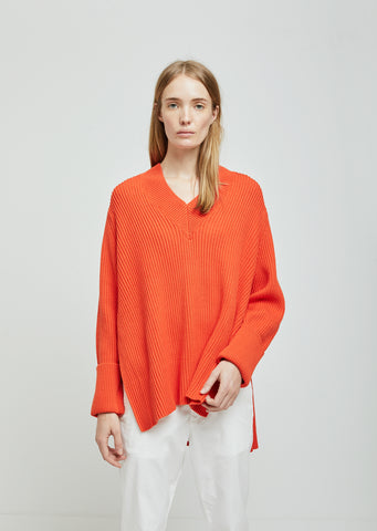 Moon Cotton Split Side Sweater