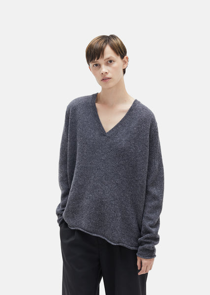 Scale V-Neck Wool Sweater