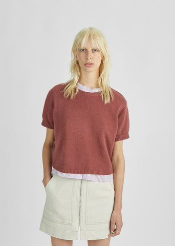 Short Sleeved Cashmere Sweater