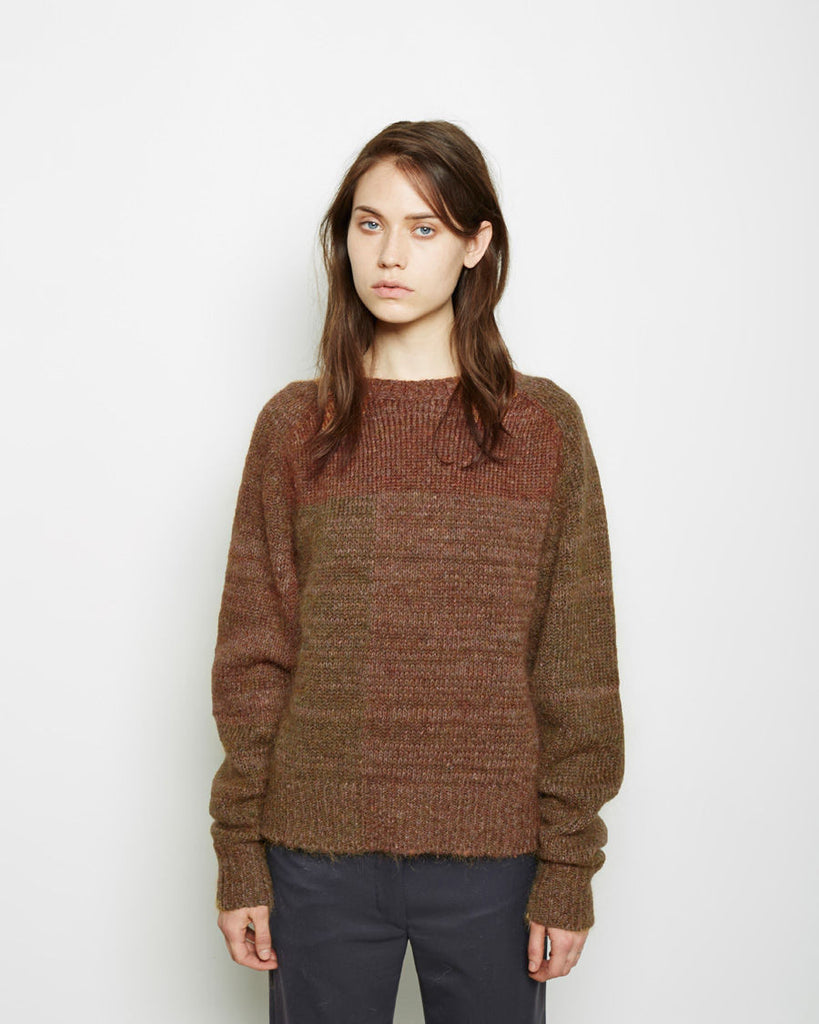 Naoko Patchwork Mohair Pullover