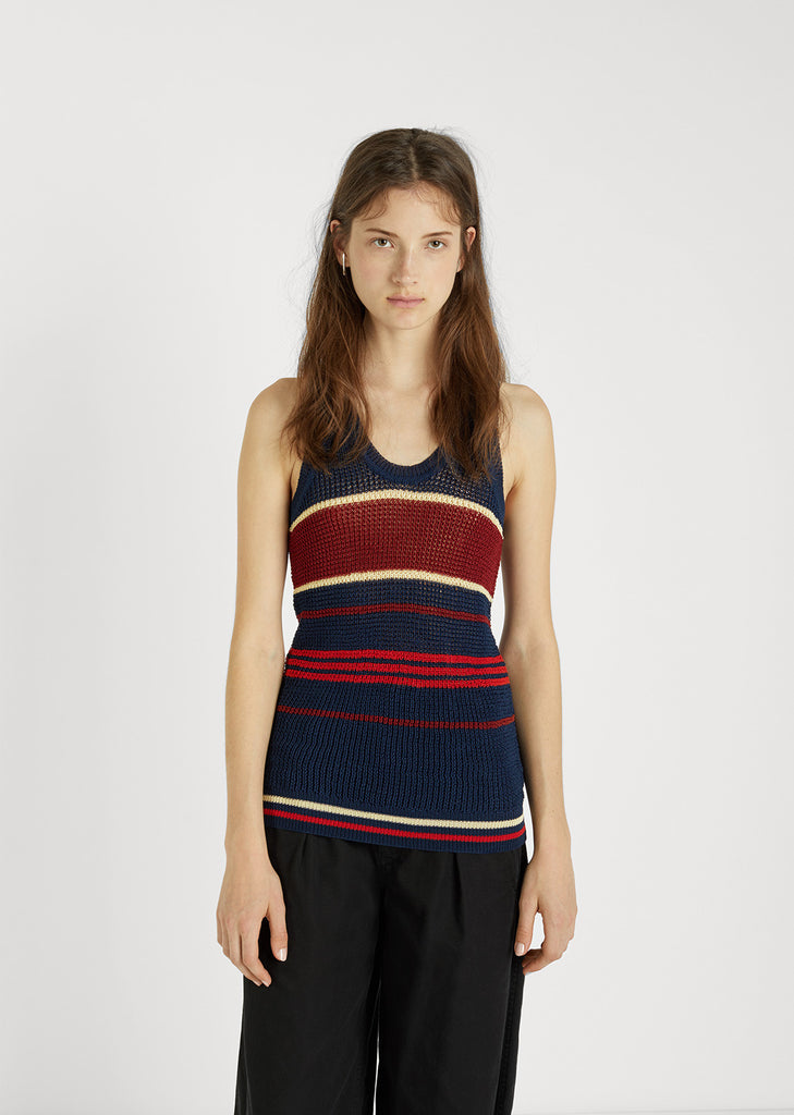 Dully Striped Sweater Tank