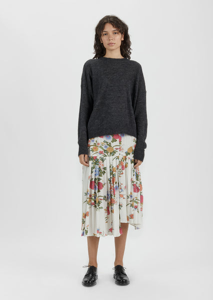 Inaya Asymmetrical Printed Skirt