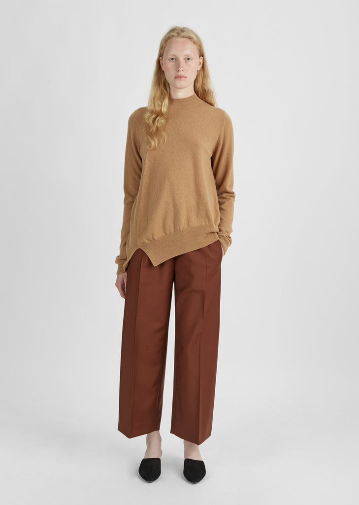 Asymmetric Hem Cashmere Sweater