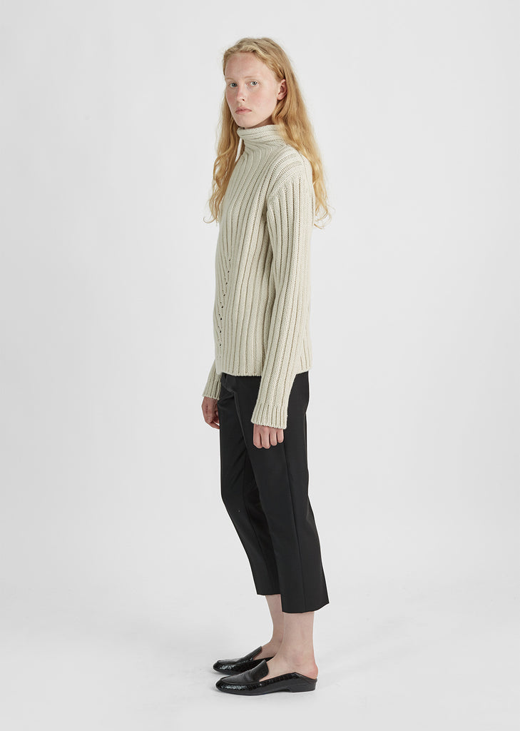 Chunky Rib Turtleneck Sweater