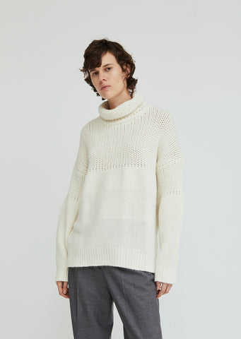 Turtleneck Wool Angora Sweater