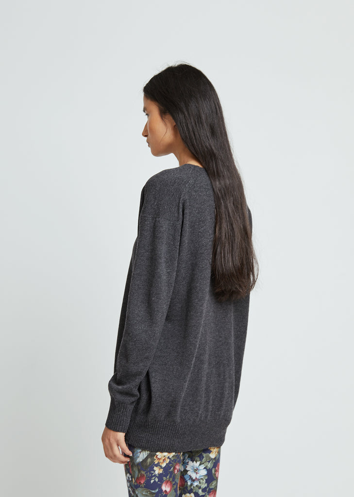 Lambswool Jersey V-Neck Sweater