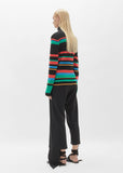Striped Merino Turtleneck