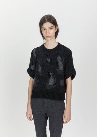 Leopard Pattern Dolman Sleeve Sweater