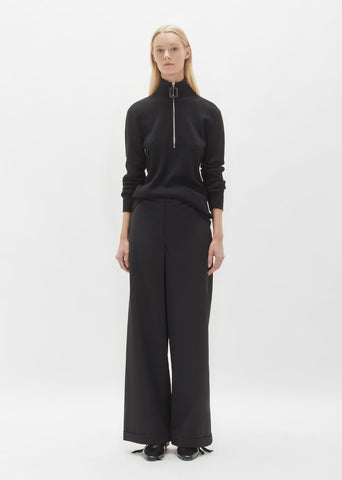 Wool Wide Leg Trouser