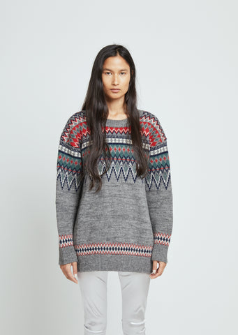 Wool Mix Jacquard Sweater