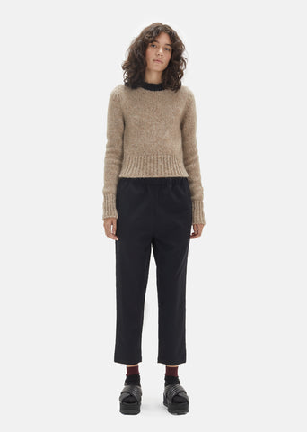 Diagonal Compact Wool Pants