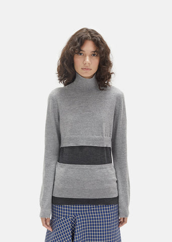 Cashmere Silk Turtleneck Sweater