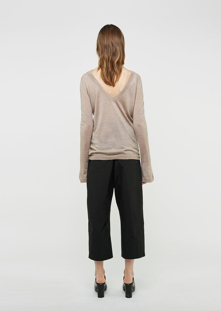 V-Back Cashmere Sweater