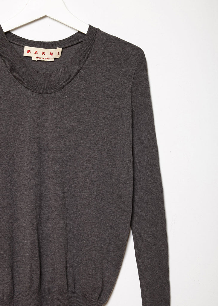 U-Neck Cotton Sweater