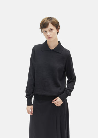 Utility Polo Collar Wool Sweater