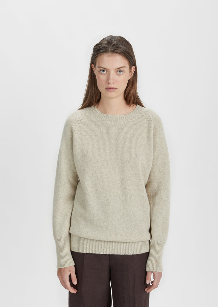 Oversized Cashmere Crewneck Sweater